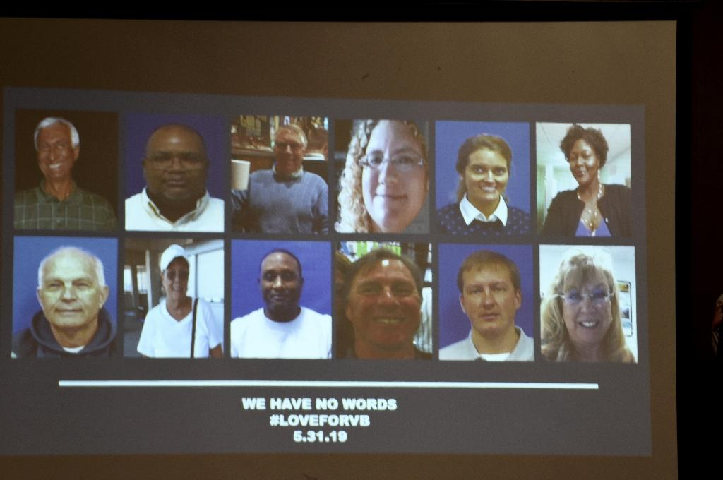Photographs of the victims are displayed during a press conference on June 1, 2019 (AFP Photo/Eric BARADAT )