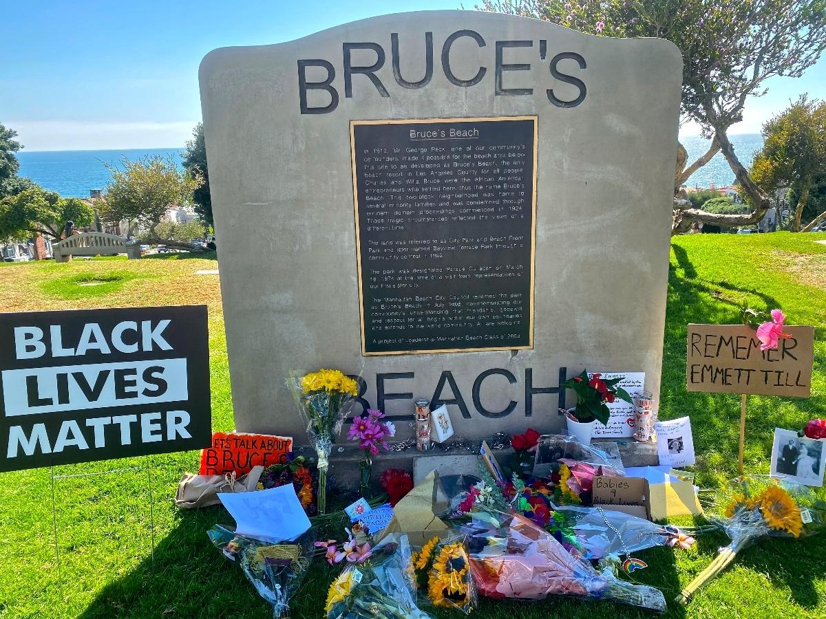 Bruce's Beach has become a historical site people visit to memorialize Black lives and ponder the past that allowed for racism to take away a Black couple's beachfront land and successful business under eminent domain.