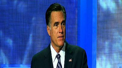 Romney talks foreign aid at Clinton conference
