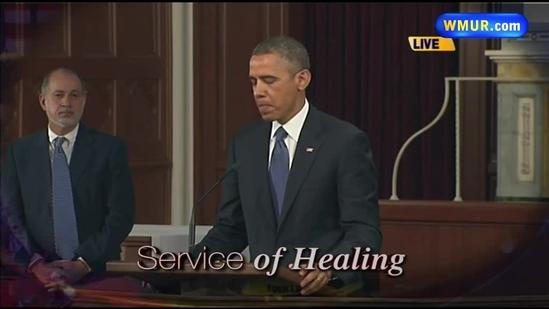 Raw Video: President Obama speaks at Service of Healing