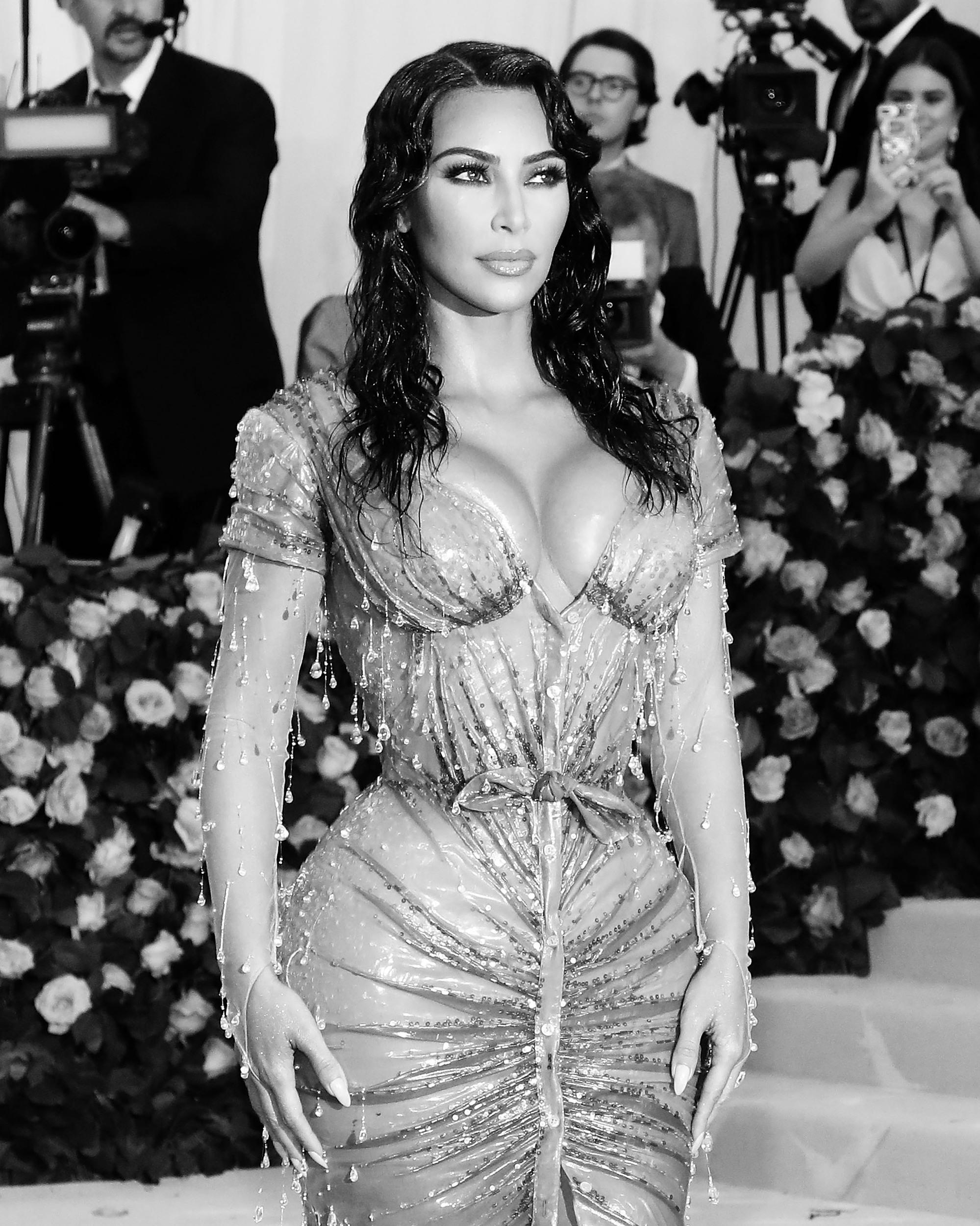 NEW YORK, NY - MAY 06: (EDITOR'S NOTE: Image was converted to black and white)  Kim Kardashian West attends The 2019 Met Gala Celebrating Camp: Notes on Fashion at Metropolitan Museum of Art on May 06, 2019 in New York City.(Photo by Taylor Hill/FilmMagic)