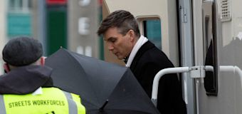 Cillian Murphy films 'Peaky Blinders' S6 in Liverpool
