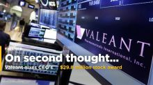Valeant Nixes CEO's $29.8 Million Stock Award in Pay Overhaul