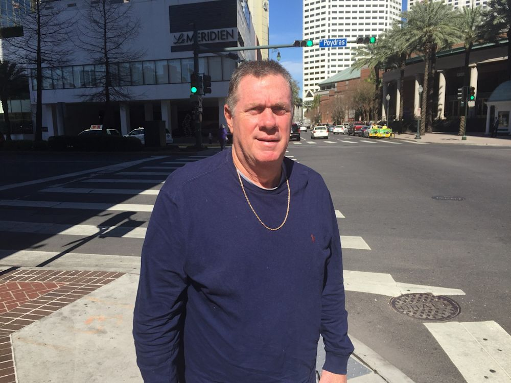 Bobby Thompson recently in the French Quarter in New Orleans. (Yahoo Sports)