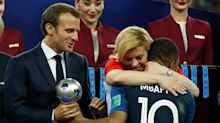 French players teach president how to dab - Watch