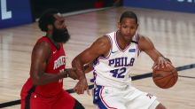 76ers close regular season by breezing past Rockets 134-96