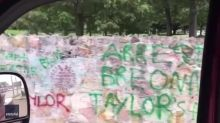 'Do U See Us?' Walls Around Graceland Covered With Anti-Racism Graffiti
