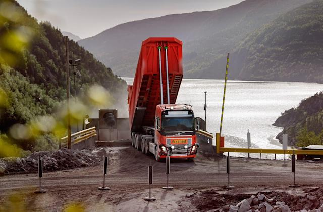 Volvo's self-driving trucks will haul limestone from a mine