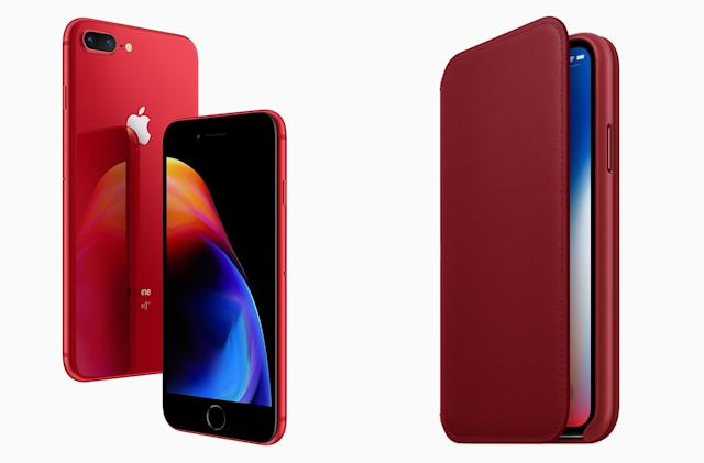 Apple's red iPhone 8 and 8 Plus go on sale tomorrow