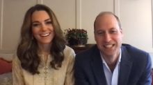 Kate Middleton Wears a Gold Kurta for Virtual Visits with Pakistani Charities