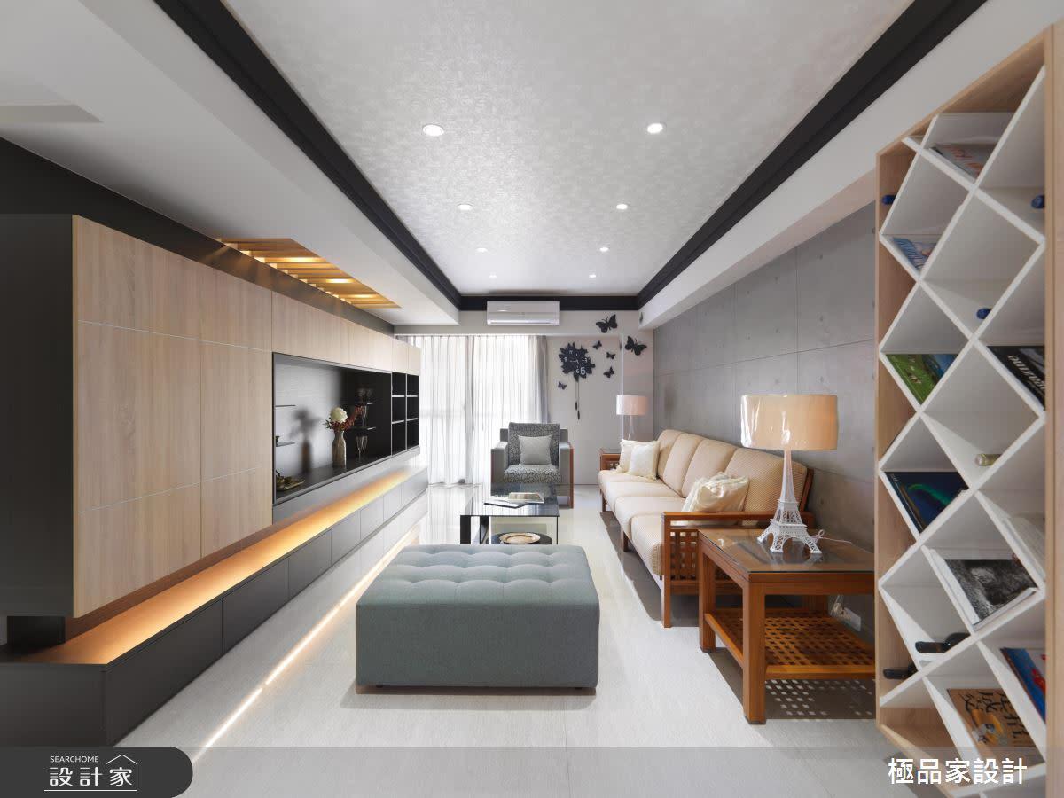 黑白時尚混搭溫暖木意,打造老屋清新容顏!