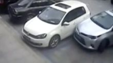 Hopeless driver takes 21 attempts to leave parking space