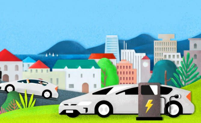 Uber提出領航者計劃,只要司機開的是零排放的電動車,每一趟都可以得到超過1美元補助。(圖片來源:https://www.hybridcars.com/uber-begins-push-get-drivers-evs/)