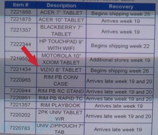 Vizio tablet fits Walmart into its hectic schedule, shipping in just six weeks