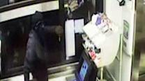 Raw Video: Robber uses drive-thru window