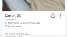 Este perfil en Tinder anda asustando a las redes sociales