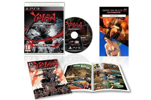 Yaiba: Ninja Gaiden Z special edition packs in DOA 5 Ultimate costumes