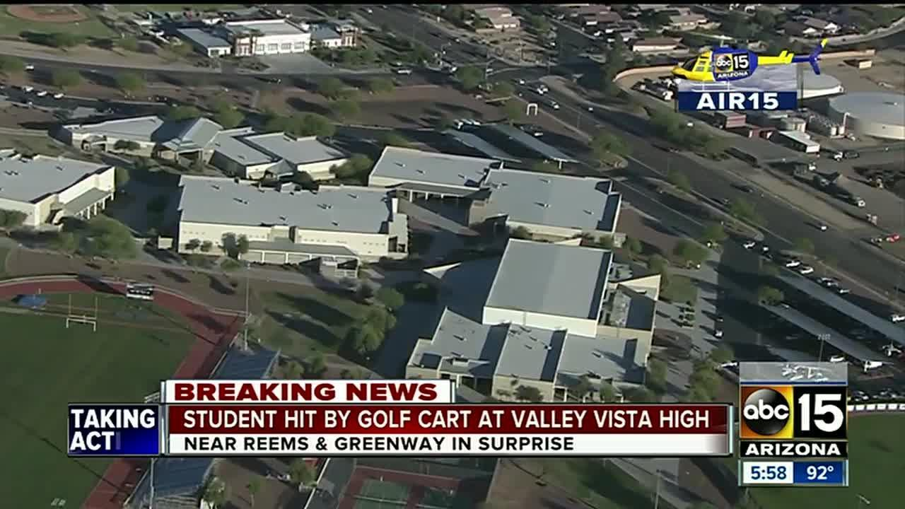 Student hit by golf cart at Valley Vista High School