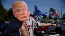 Guns and trucks at Oregon protest to defend Trump's America