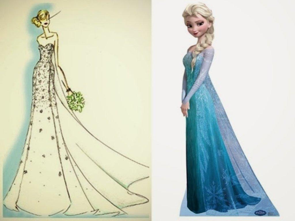 "Gaun perkahwinan inspirasi ""Frozen"""