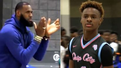 LeBron Jr's brutal response to trash-talking rival