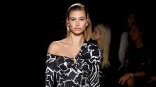 Hailey Baldwin Stuns on the Versace Runway and Indulges in Fast Food Afterwards