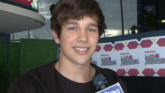 Backstage with Austin Mahone at TeenNick Halo Awards