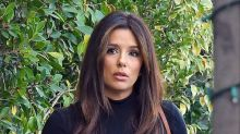 Eva Longoria Lifts Weights in New Balance Sports Bra + Leggings Set With Bold Sneakers