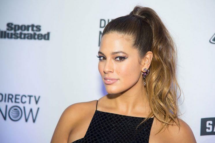 Ashley Graham wears just a coat for her new magazine spread.