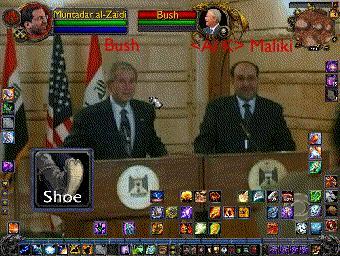 President Bush dodges a Shaman attack