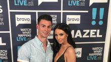 Garrett Miller of 'Siesta Key' and Scheana Marie of 'Vanderpump Rules' get flirty after appearance on 'Watch What Happens Live'