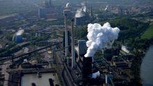 European stocks inch higher while steelmakers skid