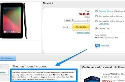 Google Nexus 7 tablet gets mid-July arrival dates from Staples in US and Canada