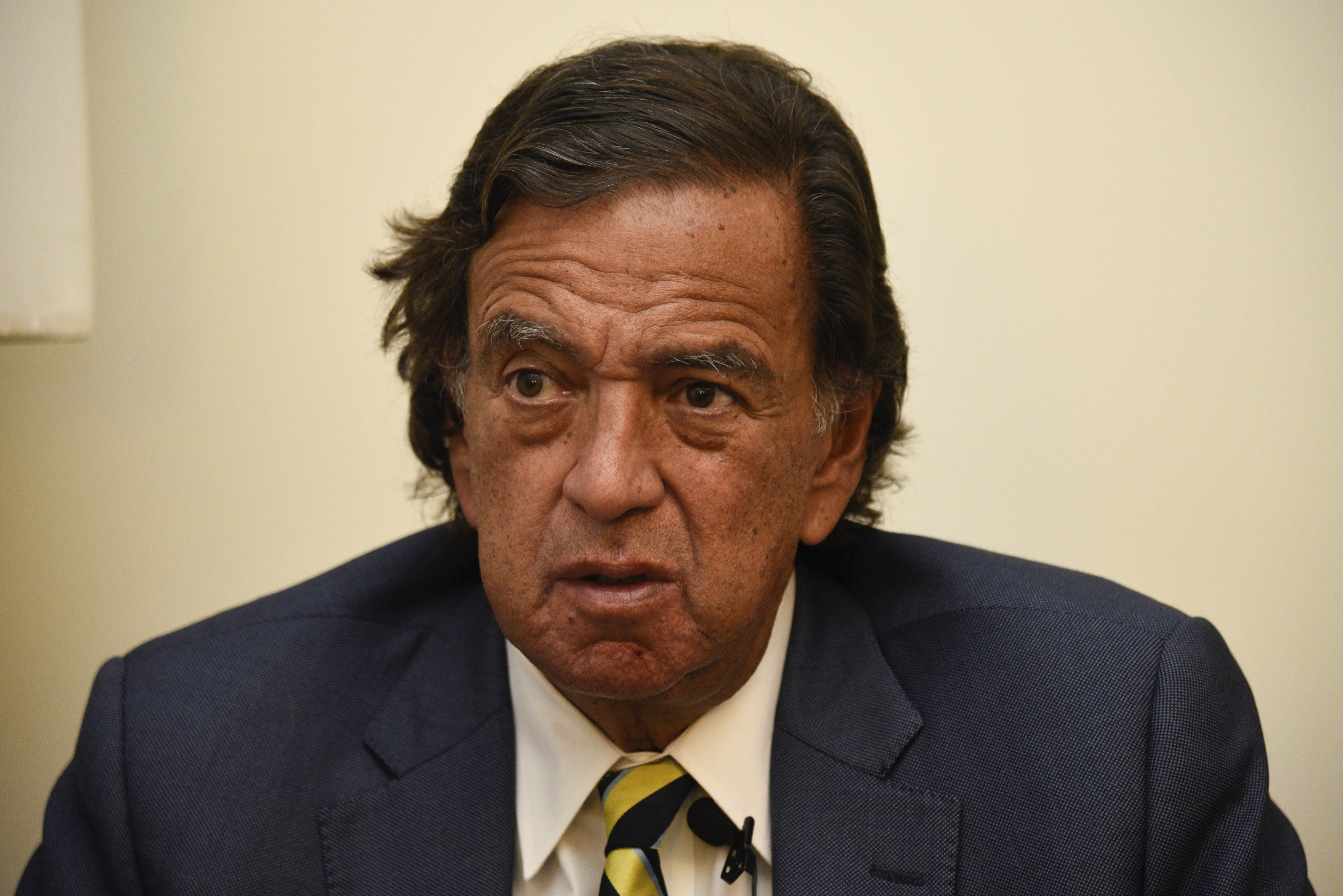 FILE - In this Jan. 24, 2018 file photo, former New Mexico Gov. Bill Richardson gives an interview in Yangon, Myanmar. Richardson will travel the week of July 13, 2020, to Venezuela to urge President Nicolás Maduro to free several jailed Americans as a goodwill gesture aimed at easing tensions with the U.S., according to The Richardson Center in an annoucement on Monday, July 13, 2020. (AP Photo/Thet Htoo, File)