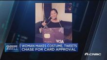 Woman dresses up as credit card, tweets Chase for card ap...