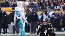 Worst penalty ever? Dolphins player fails badly on attempted field-goal block