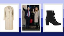 Carrie Symonds wears £69 coat and £45 boots from Marks & Spencer – both available to shop now
