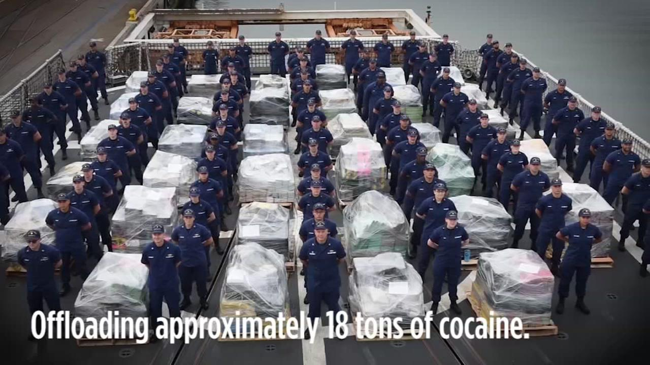 massive drug haul here s what 18 tons of cocaine looks