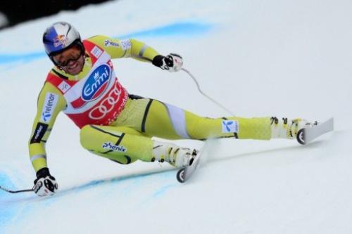 El noruego Svindal durante una competencia del Mundial de Esquí.