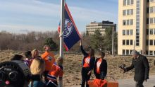 Oilers flag still on legislature grounds but don't expect to see it in Calgary