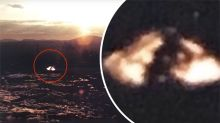 Bizarre image claims to show 'UFO' with alien inside