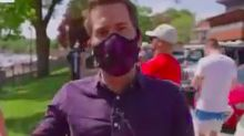 MSNBC's Cal Perry Called Out People on Air for Not Wearing Masks — and It Didn't Go Well