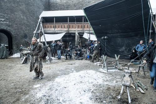 Kristofer Hivju as Tormund Giantsbane on the set of HBO's Game of Thrones . (Photo Credit: Helen Sloan/HBO)