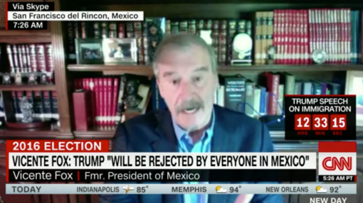 'Political stunt': Ex-Mexican President Vicente Fox rips Donald Trump's trip to Mexico