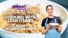 Leah Itsines shares delicious creamy mushroom pasta recipe