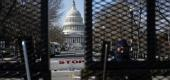 Capitol police secure the area ahead of U.S. President-elect Joe Biden's inauguration, in Washington. (Reuters)