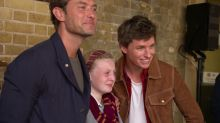 Jude Law and Eddie Redmayne surprise Harry Potter fans at Kings Cross on Back To Hogwarts day