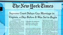 Headlines at 7:30: Supreme Court delays decision on same-sex marriage in Virginia