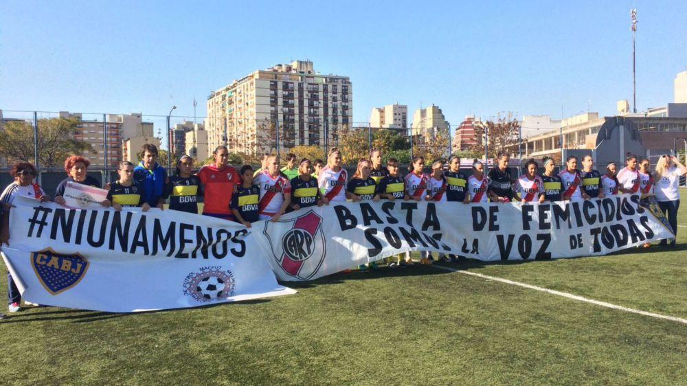 Boca y River se unen en un grito: #NiUnaMenos