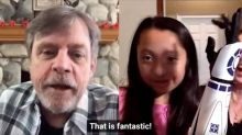Girl, 11, receives R2-D2 'bionic arm' and phone call from Mark Hamill
